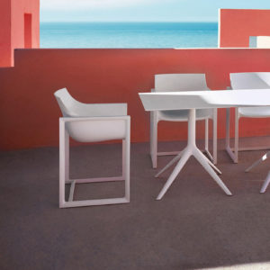 A group of wall street chairs in use by Vondom.