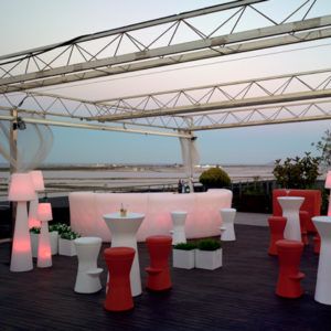 New Garden's light up Ibiza bar in setting.