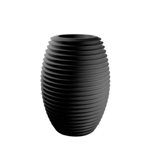 Serralunga's Top pot planter in black