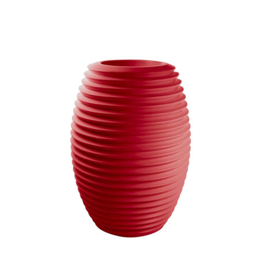 Serralunga's Top pot planter in red