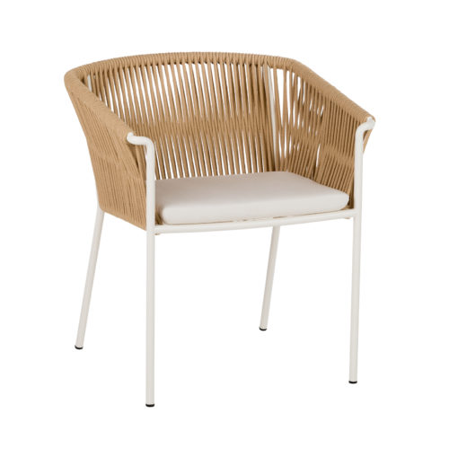 The Weave dining chair by Point with whitelegs.
