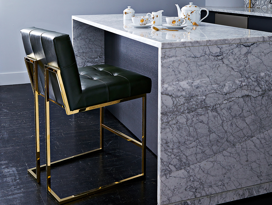 Kitchen Counter Chairs Cape Town: GOLDFINGER LEATHER KITCHEN STOOL By Jonathan Adler