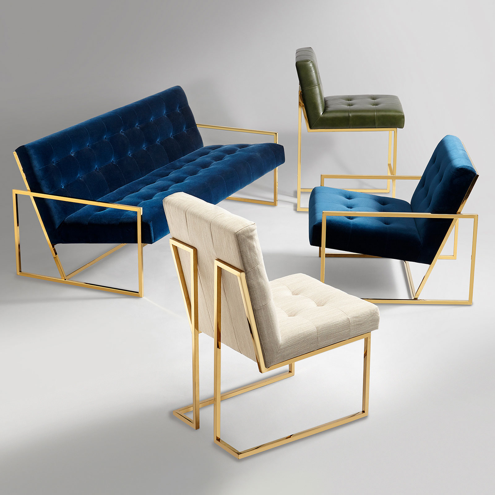 Goldfinger Linen Dining Chair By Jonathan Adler Core Furniture Online