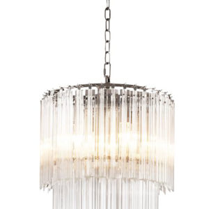 A close up of the Alpina S Chandelier by Eichholtz.