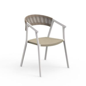 The Key Dining Armchair by Talenti in neutral tones.