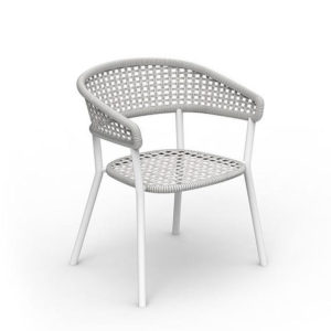 The Moon//Alu dining armchair by Talenti.
