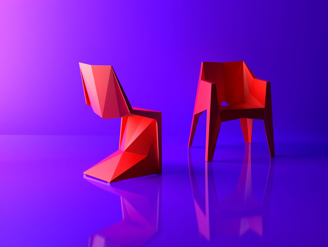 voxel-chair-red-vondom-core-furniture-product-1