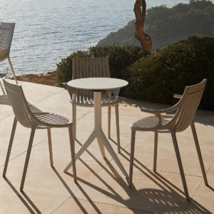 The Ibiza chair with arms in use by Vondom.