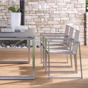 Essence dining armchairs by Talenti.
