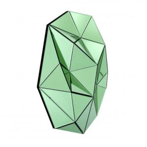 Side view of a Green Topanga mirror by Eichholtz.