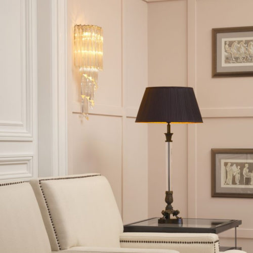 The Marino Wall Lamp by Eichholtz in use.