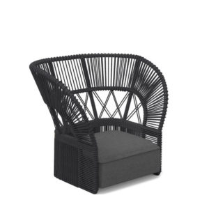 A Cliff Deco Rope Armchair by Talenti in Black.