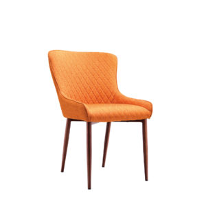 Orange upholstered dining chair by Artysmen.