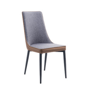 Lilac upholstered dining chair by Artysmen.