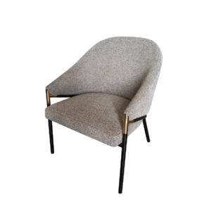 Grey upholstered dining chair by Artysmen.