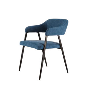 Artysmen upholstered dining chair in navy