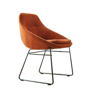 Orange dining chair by Artysmen.