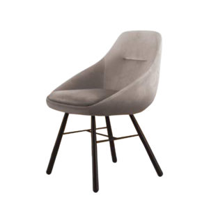 A grey dining chair by Artysmen.