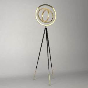 The Cassini Floor Lamp by Eichholtz in use.