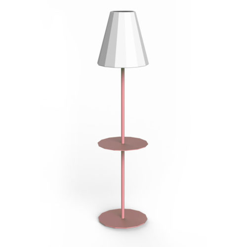 New Garden's Helga standing lamp in pink.